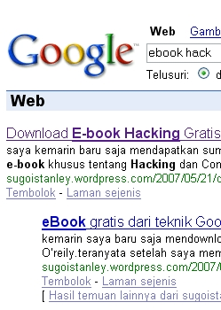 ebook hack pada google keyword